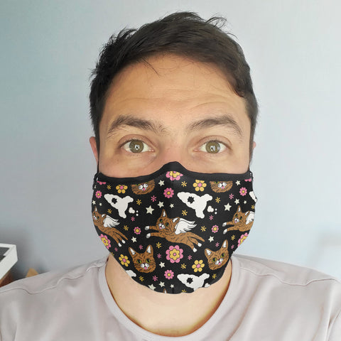 NEW! Face Mask - Retro BUB - Black
