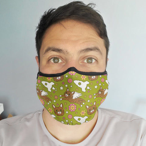 Face Mask - Retro BUB - Green