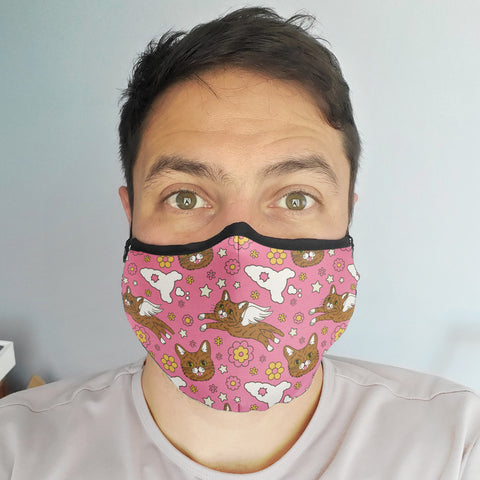NEW! Face Mask - Retro BUB - Pink