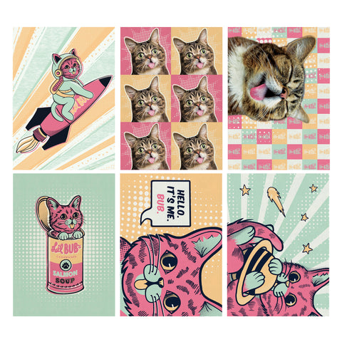 Postcard Pack - Pop Art - Set of 6