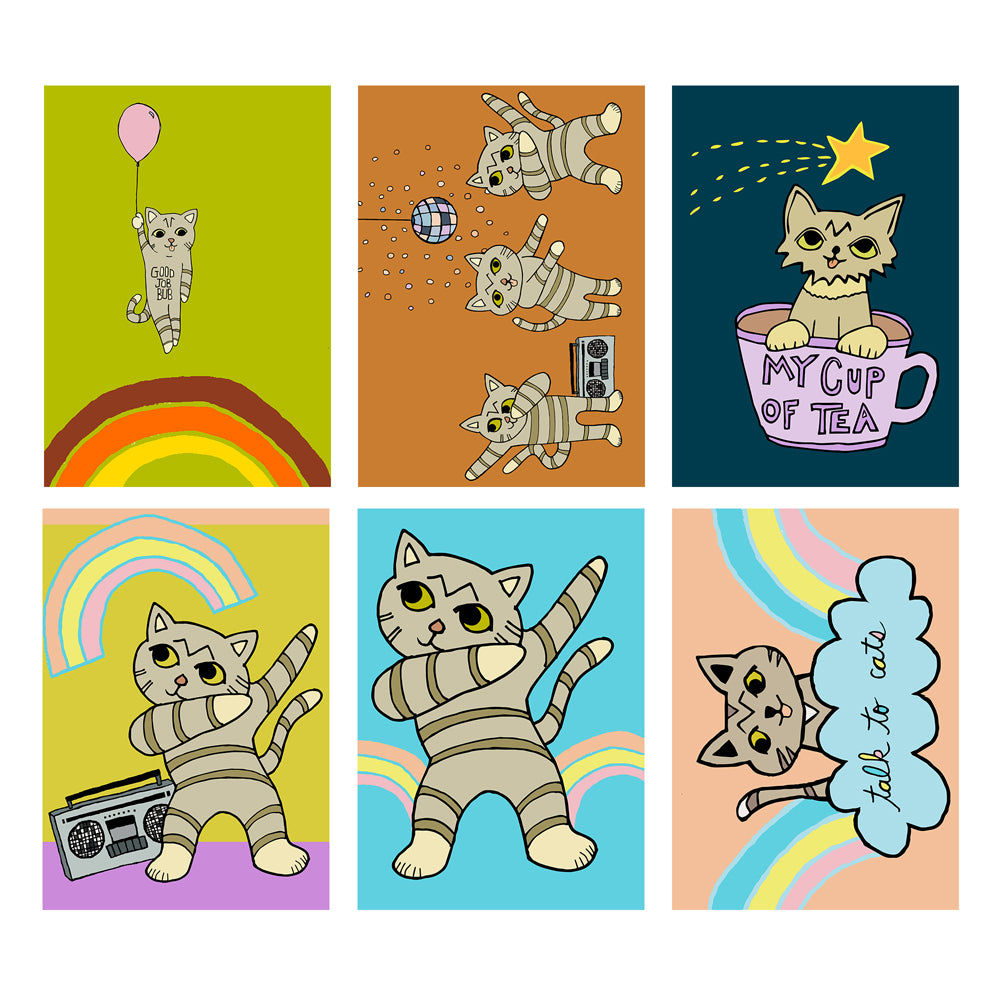 Postcard Pack - Cartoon BUB - Set of 6