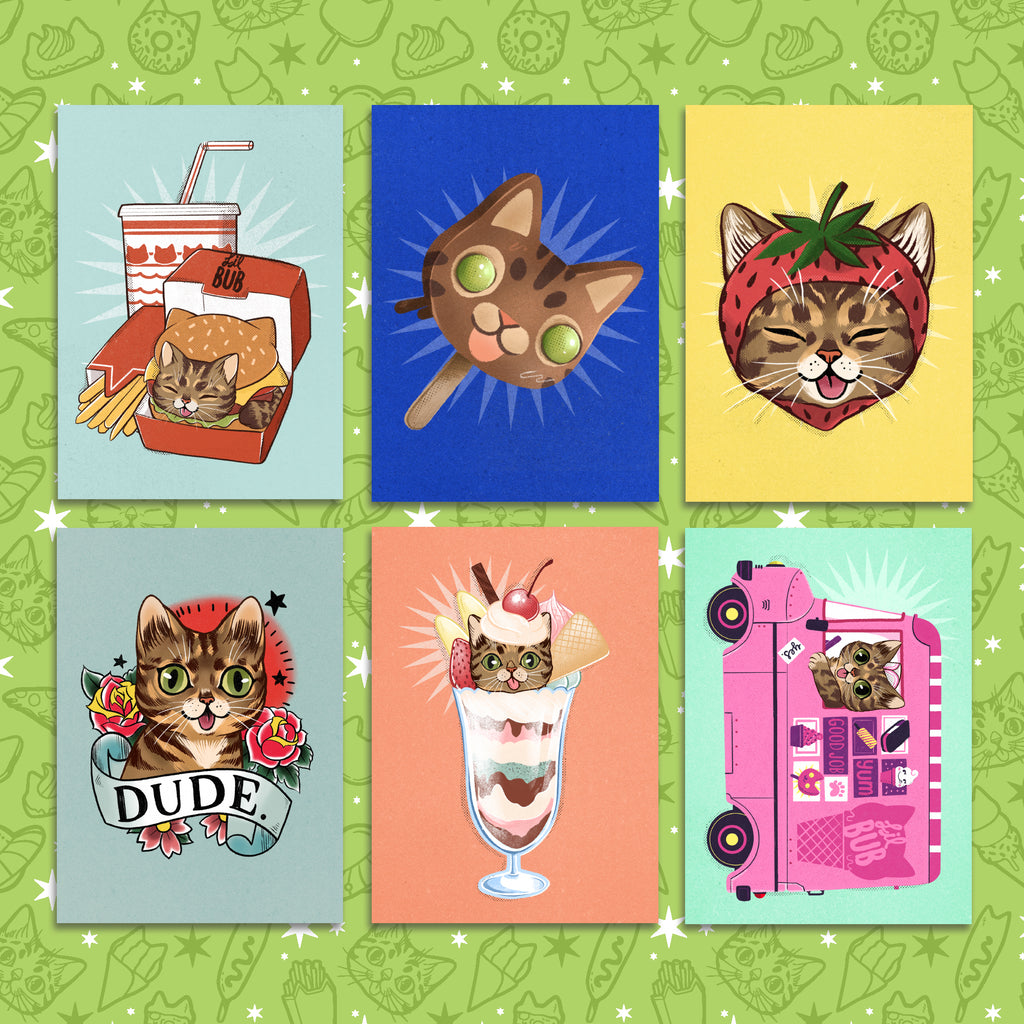Postcard Pack - YUMMY BUB - Set of 6