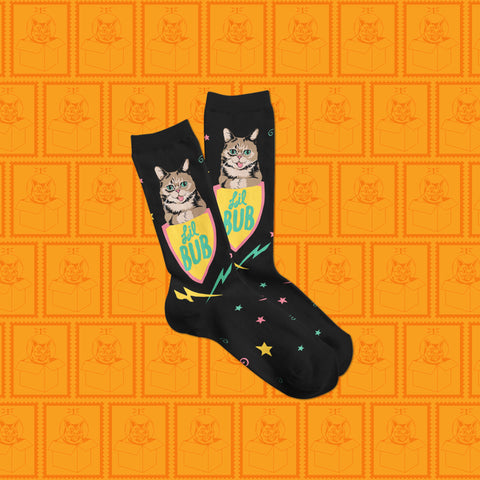 Crew Socks - Lil BUB Coat of Arms