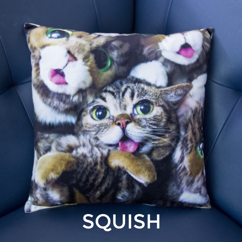 Lil BUB Decorative Throw Pillow - SQUISH