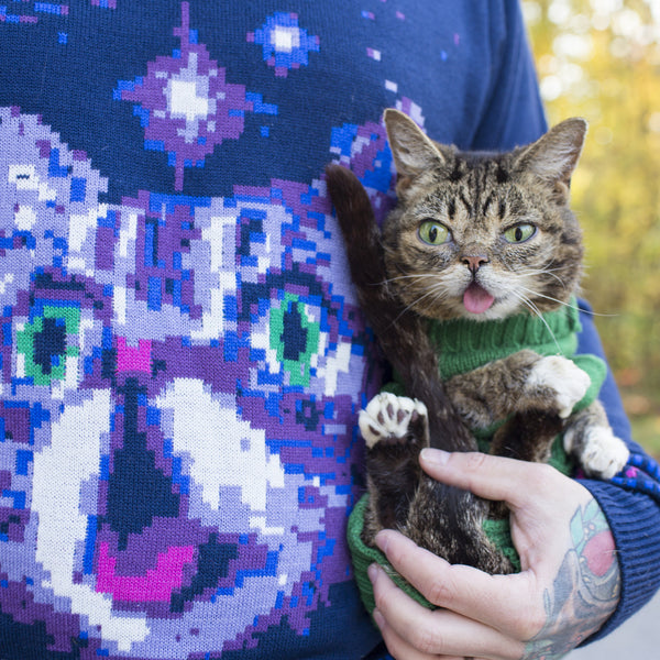 Knit BUB Sweater - Space Cat