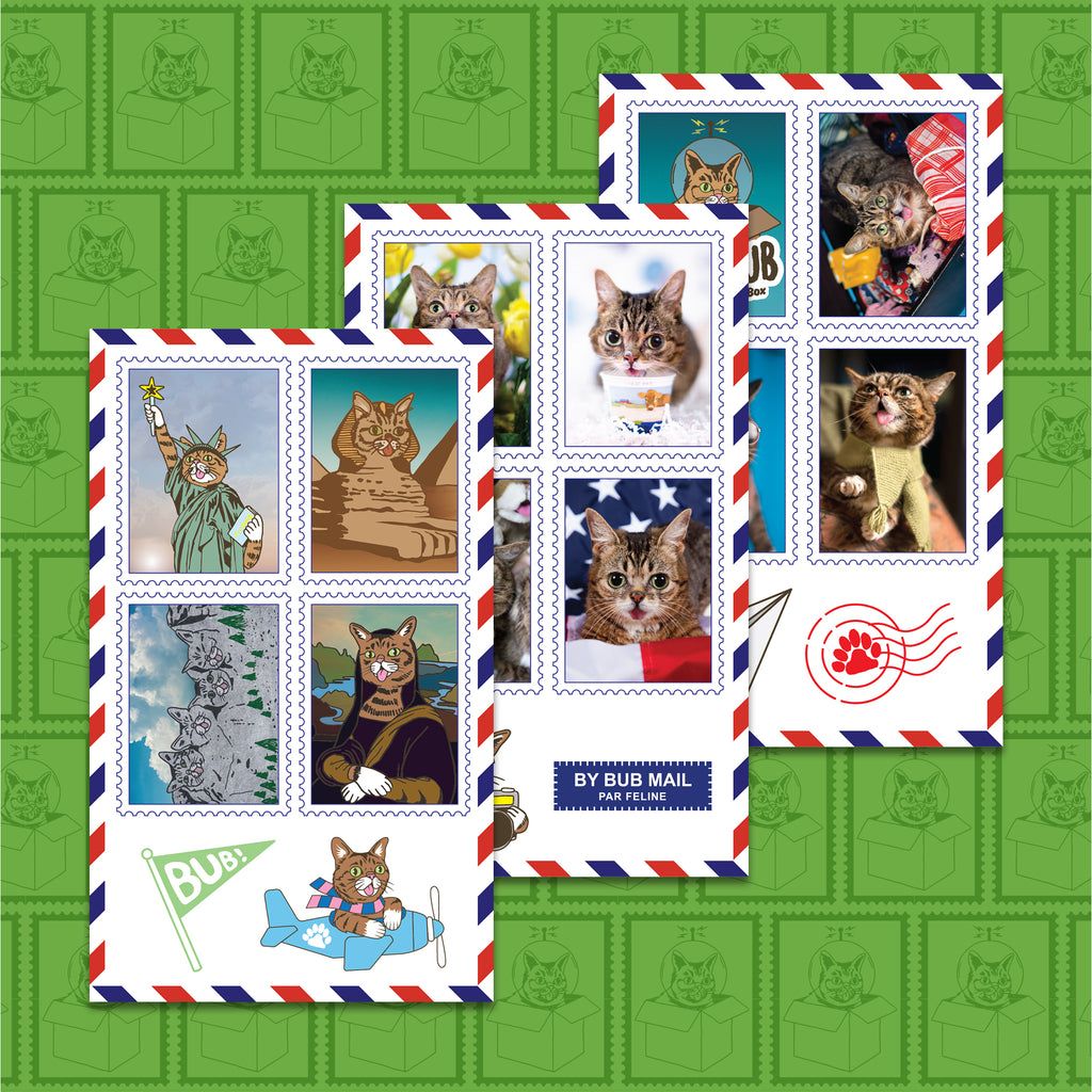 Sticker Sheets - Postage Stamp Set