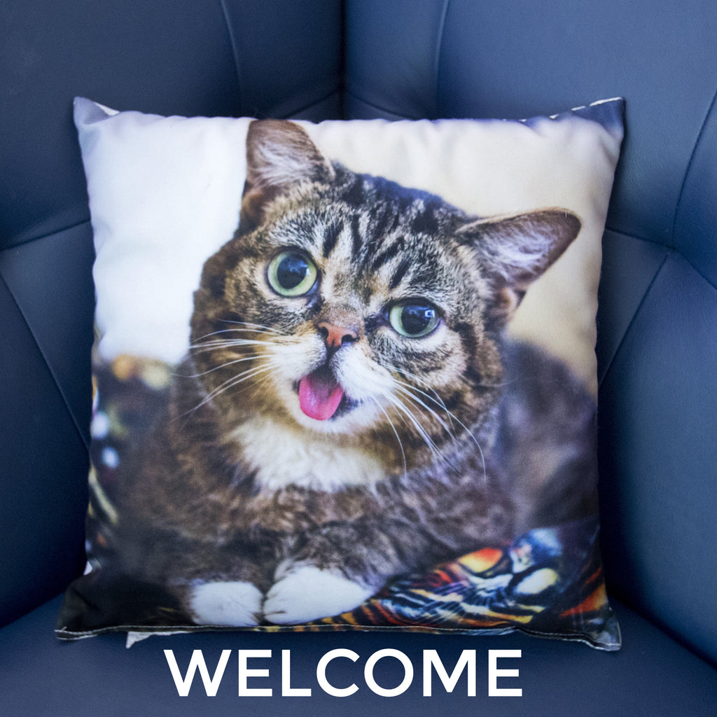 Lil BUB Decorative Throw Pillow - WELCOME