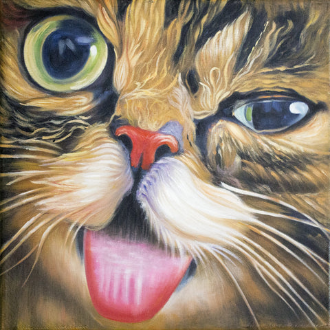 Lil BUB Oil Painting