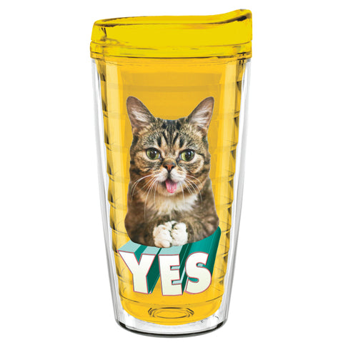 16 Oz Travel Tumbler - YES BUB - Canary Yellow
