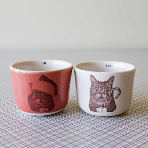 Lil BUB Handmade Porcelain Holiday Wee Tea Set (Limited Holiday Edition)