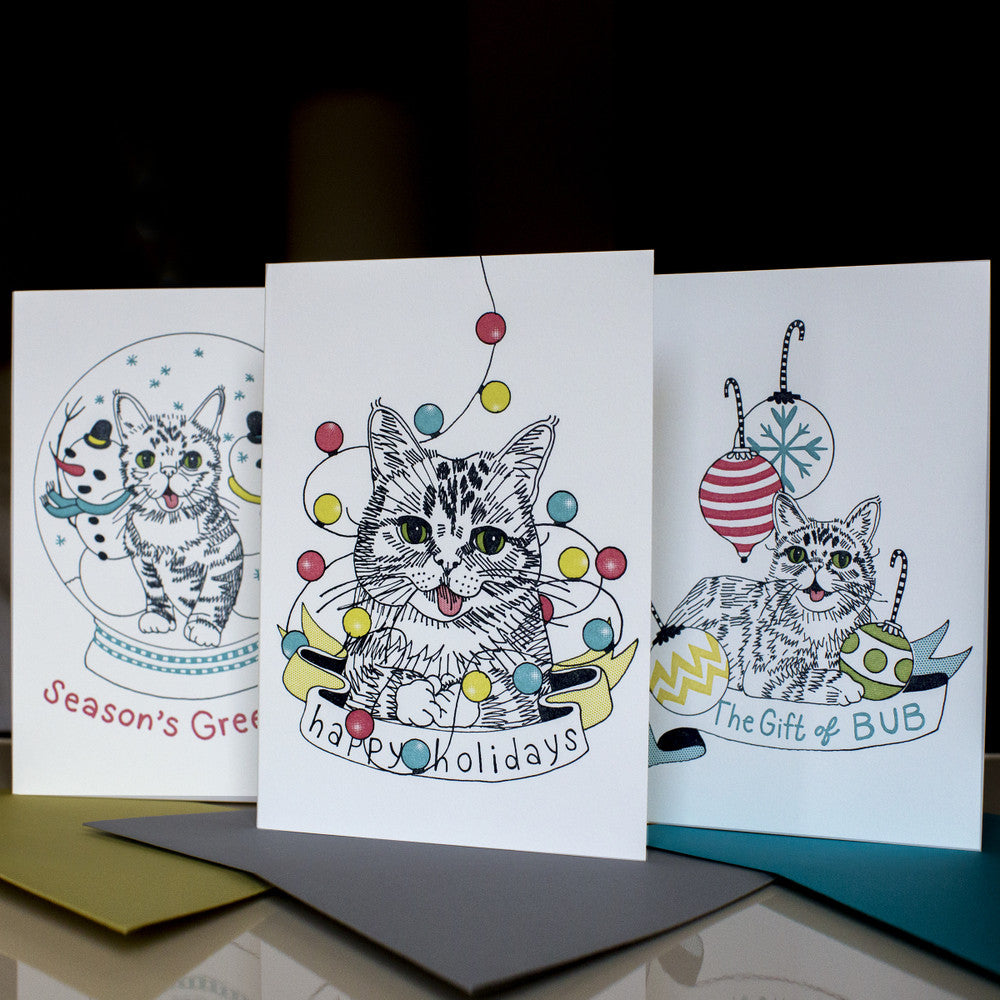 Lil BUB Letter Press Holiday Cards