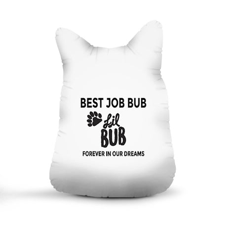 Signed and Personalized 3D Commemorative Lil BUB Plush Pillow - 18""