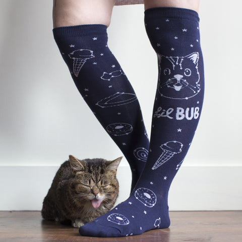 Lil BUB constellation socks