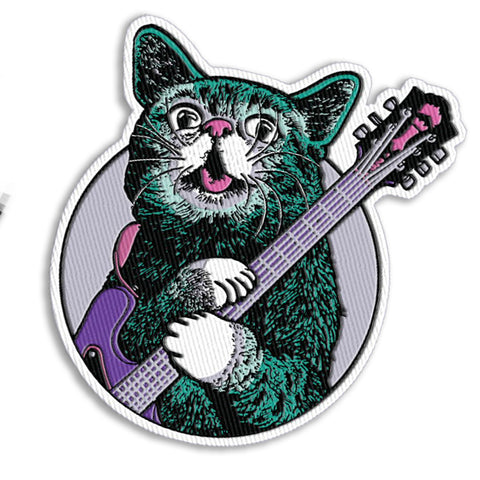 Lil BUB Rock & Roll GUITAR - Iron-On Patch