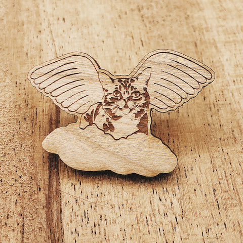 Wooden Pin - Angel BUB
