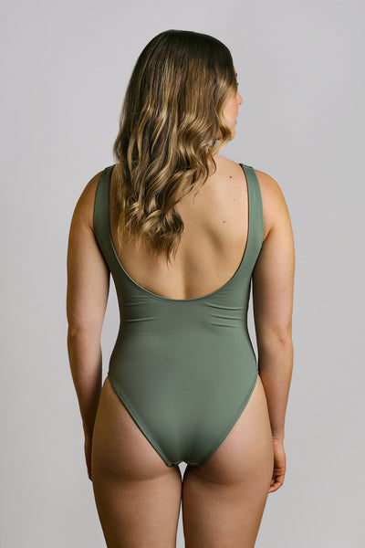 Pistachio|Model is 5'6 (34A - 26) and wearing small - Christina one piece