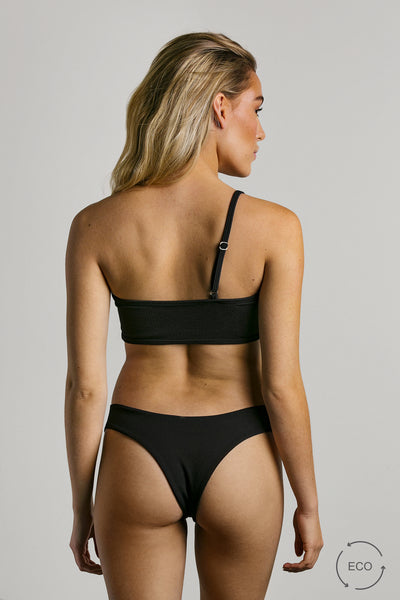 Licorice|Model is 5'6 (32B) and wearing small - Grace Bikini Top|STL-1