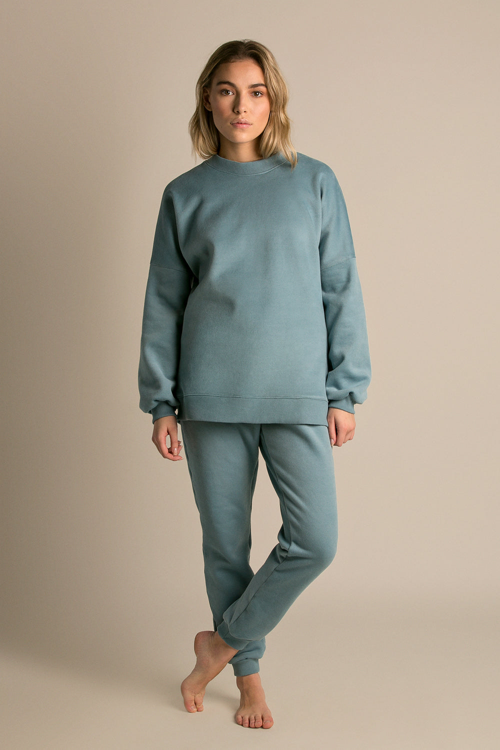 Lazy Sunday Sweatshirt - Fleece Aqua