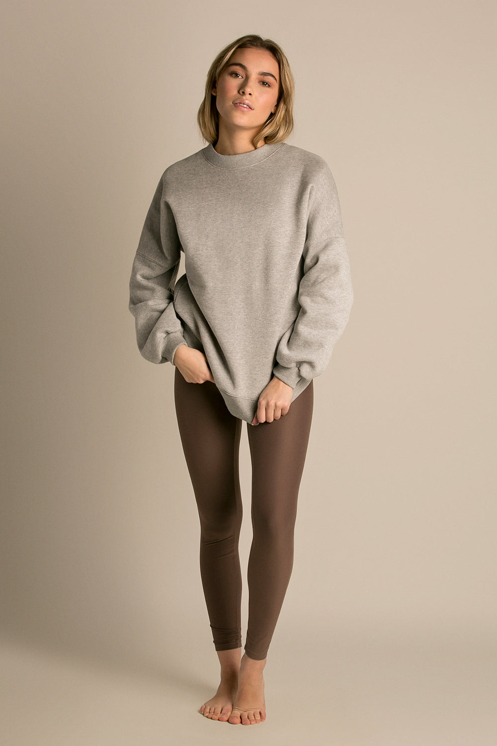 Lazy Sunday Sweatshirt - Fleece Stone