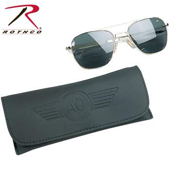 55mm AO Original Pilot Polarized Sunglasses