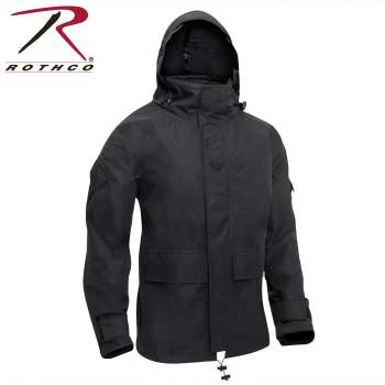 Tactical Hard Shell Waterproof Jacket - Black