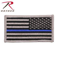 Thin Blue Line Police U.S. Flag Patch - Hook Back (Reverse)
