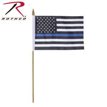Thin Blue Line Stick Flag