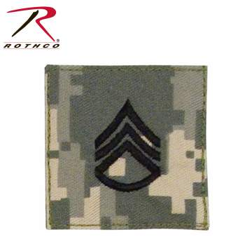 Official U.S. Made Embroidered Rank Insignia - Staff Sergeant Patch