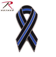 Thin Blue Line Ribbon Pin