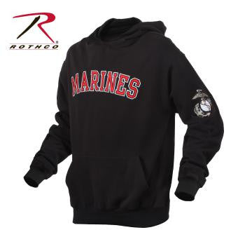 Marines Embroidered Pullover Hoodie