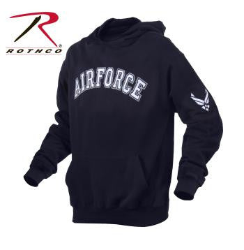 Airforce Embroidered Pullover Hoodie