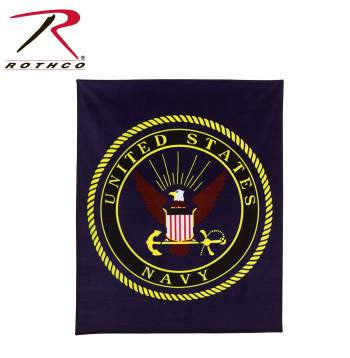 Military Insignia Fleece Blanket US NAVY