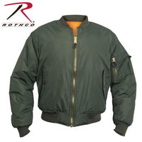 Enhanced Nylon MA-1 Flight Jacket Sage Green