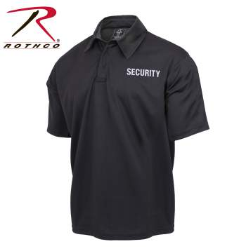 Moisture Wicking Public Safety Security Polo Shirt Short Sleeve