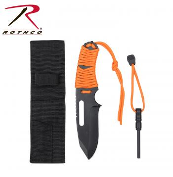 Closeout Large Paracord Knife With Fire Starter