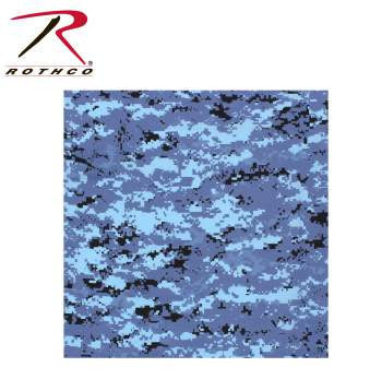 Digital Camoflage Bandana, Sky Blue Digital