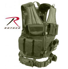 Cross Draw MOLLE Tactical Vest Olive Drab