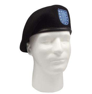 ''Inspection Ready'' Black Beret w/ Flash