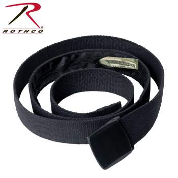 "54"" Travel Web Belt Wallet With Hidden Interior Compartment"