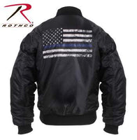 Thin Blue Line Flag MA-1 Flight Jacket