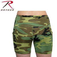 Womens Camo Workout Performance Legging Shorts
