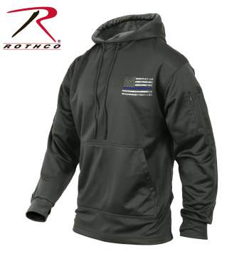 Thin Blue Line Concealed Carry Hoodie Grey Sale!