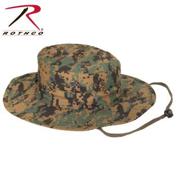 """Adjustable"" Boonie Hat Woodland Digital Camo"