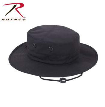 """Adjustable"" Boonie Hat Black"