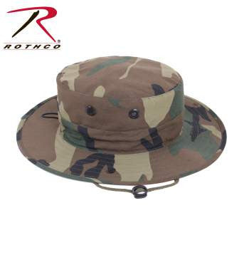 """Adjustable"" Boonie Hat Woodland Camo"