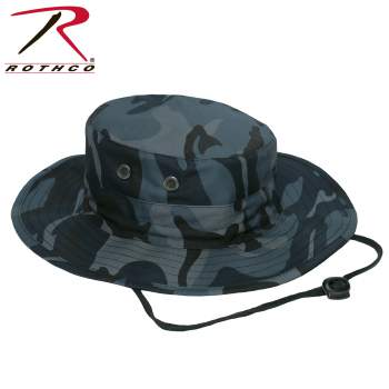 """Adjustable"" Boonie Hat Midnight Blue Camo"