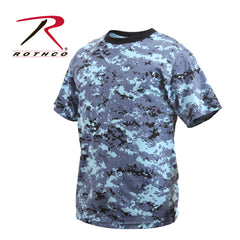 Kids Digital Camo T-Shirt, Sky Blue Digital