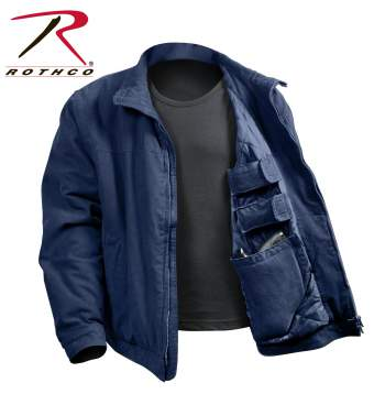 3 SEASON CONCEALED CARRY JACKET, NAVY