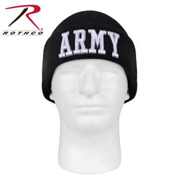 Deluxe Military Embroidered Watch Cap Army