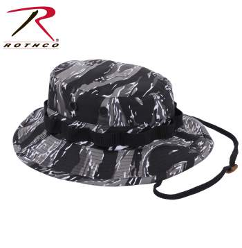 Camo Poly/Cotton Boonie Hat Urban Tiger Stripe Camo